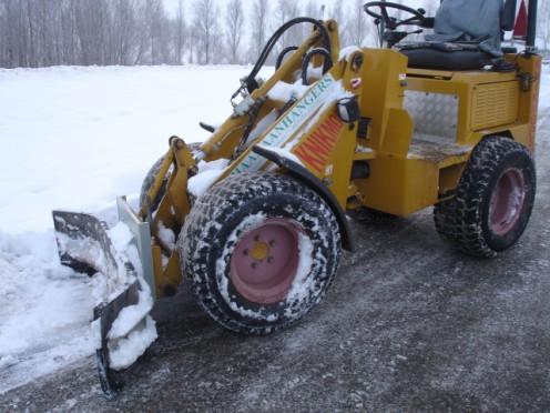 Sneeuwschuiver aan huis