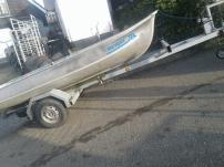 Alumminium bootje   + trailer gegalvaniseerd compleet  setje