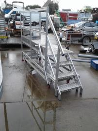 Platformen trap aluminium